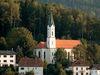 Blick auf die Pfarrkirche in Hohenwarth im Kötztinger Land