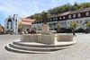 Brunnen auf dem historischen Marktplatz in Homburg
