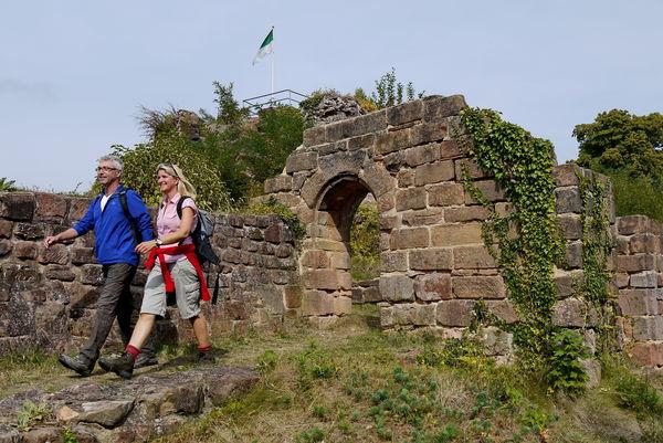 Festungsruine Hohenburg in Homburg
