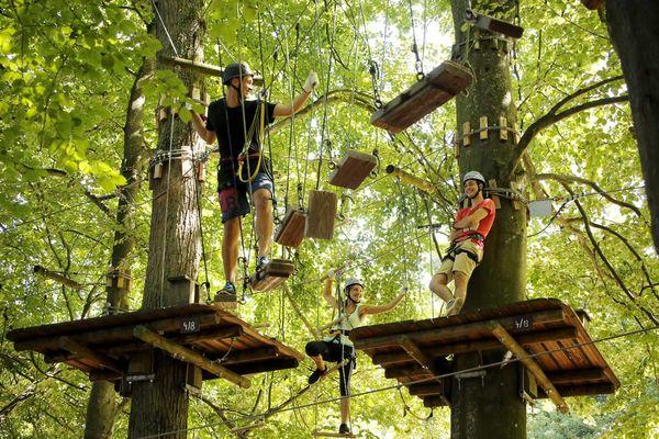 Kletterparadies im Fun Forest Abenteuer-Park