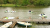 Bootsverleih am Brückweiher im Naherholungsgebiet Jägersburg