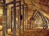 Vorhalle Schlossberghöhlen mit Verbauung
