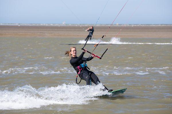 Kitesurfen im Wangerland an der Nordsee