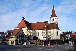 Heilig Kreuz Kirche in Hüttlingen