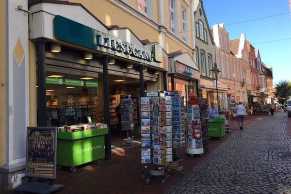 Außenansicht der Buchhandlung Liesegang in der Krämerstraße