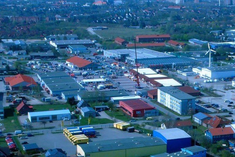 Gewerbegebiet Ost in Husum (Luftaufnahme)