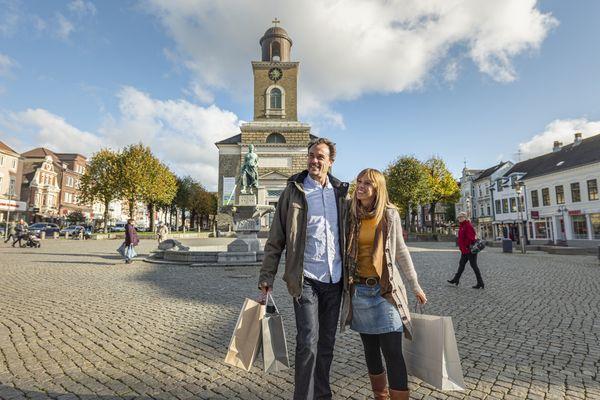 Einkaufen im Herzen der Stadt - auf dem Marktplatz