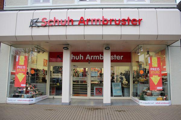 Schuh Armbruster am Husumer Marktplatz