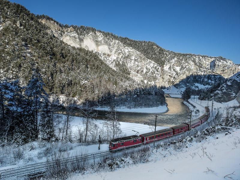 Rheinschlucht Winter RhB