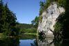 Amalienfelsen am Donauufer im Fürstlichen Park bei Inzigkofen