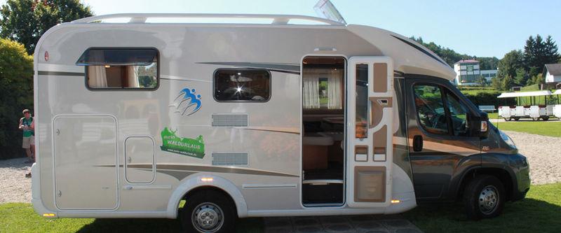 Das Wastl-Mobil gesponsert von der Firma Knaus Tabert aus Jandelsbrunn