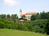Blick auf die Pfarr- und Wallfahrtskirche ST. ÄGIDIUS in Wollaberg bei Jandelsbrunn