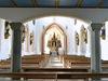 Innenraum der Pfarr- und Wallfahrtskirche ST. ÄGIDIUS in Wollaberg bei Jandelsbrunn