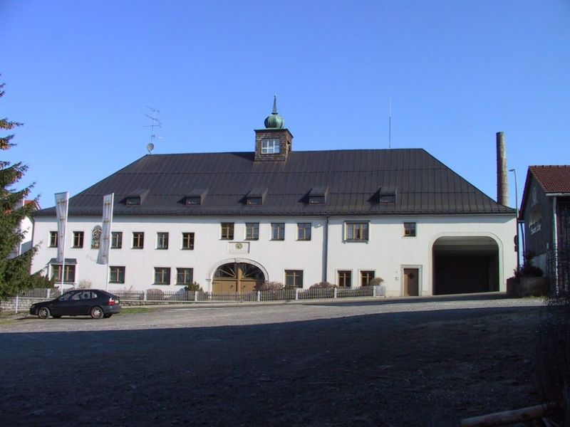 Blick auf die Privatbrauerei Josef Lang in Jandelsbrunn