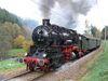 Dampfzug der UEF Sektion Ettlingen mit Dampflok 58 311 am 1.11.2006 im Albtal vor Frauenalb.