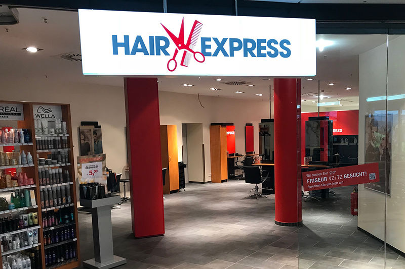 HairExpress Karlsruhe Postgalerie Salonfoto