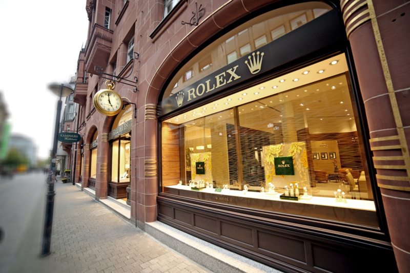Juwelier Kamphues Eingang in der Waldstraße