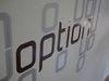 Option, Schriftzug, Logo