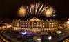 POSTGALERIE Karlsruhe Europaplatz mit Feuerwerk