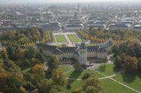Schloss Karlsruhe, Luftbild