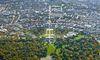 Luftbild Fächergrundriss Karlsruhe