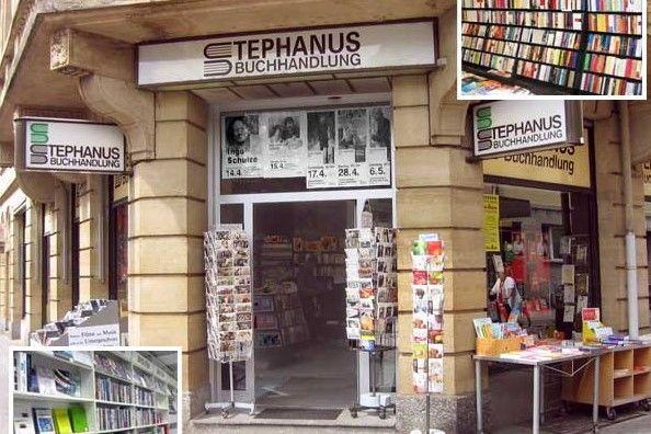 Stephanus-Buchhandlung an der Ecke Herrenstraße und Erbprinzenstraße