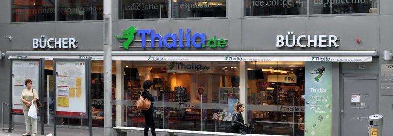 Eingang der Buchhandlung Thalia Kaiserstr.