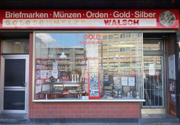 Außenansicht Geschäftsräume der Firma Walsch Karlsruhe