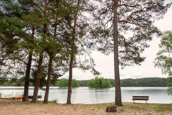 Badestelle am Grubensee / Tiefer See, Foto: Seenland Oder-Spree / Florian Läufer