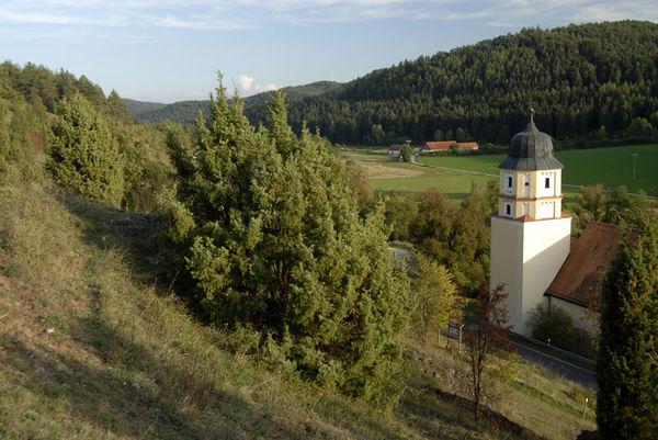 Wallfahrtskirche bei Hohenburg am Jurasteig
