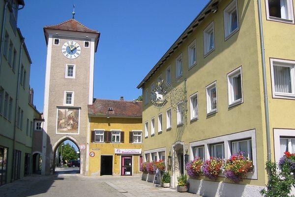 Mittertor in Kelheim - westlicher Torturm der ehemaligen Befestigungsanlage