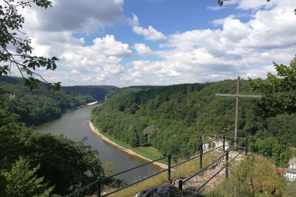 Aussichtspunkt Wieserkreuz in der Weltenburger Enge bei Kelheim