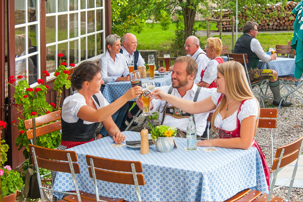 Biergarten in Kiefersfelden