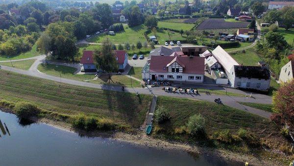 Luftbild des Restaurants