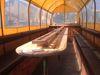 Das Innere des Planwagens