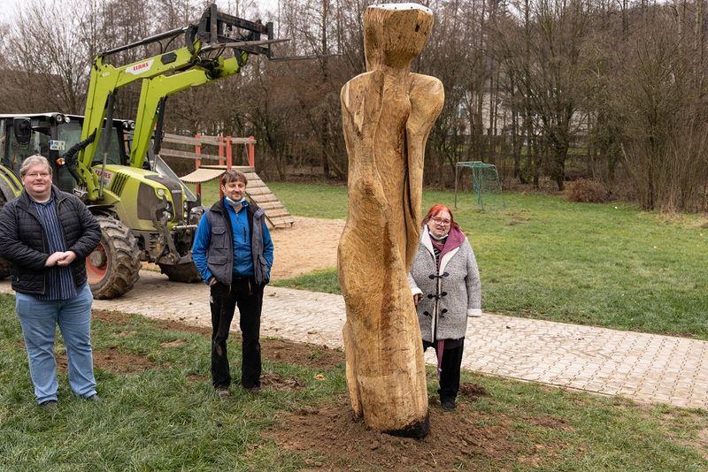 Installation der Skulptur