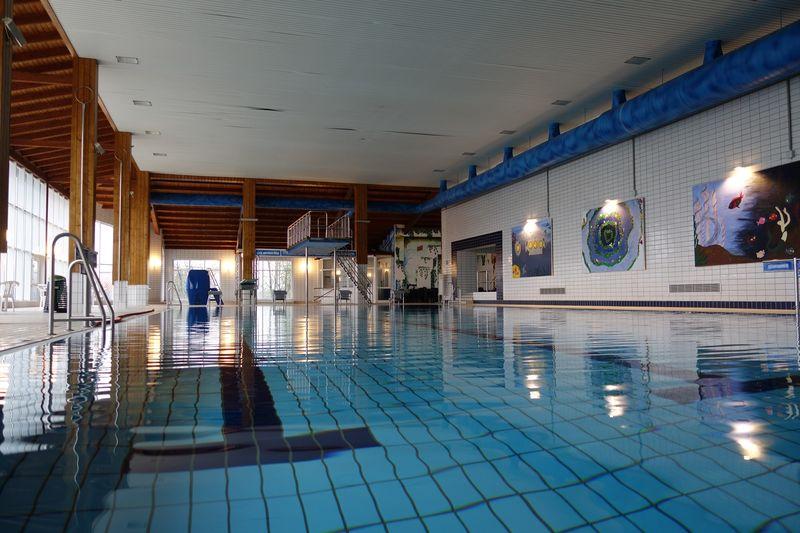 Blick in das Sport- und Freizeitbad in Kierspe