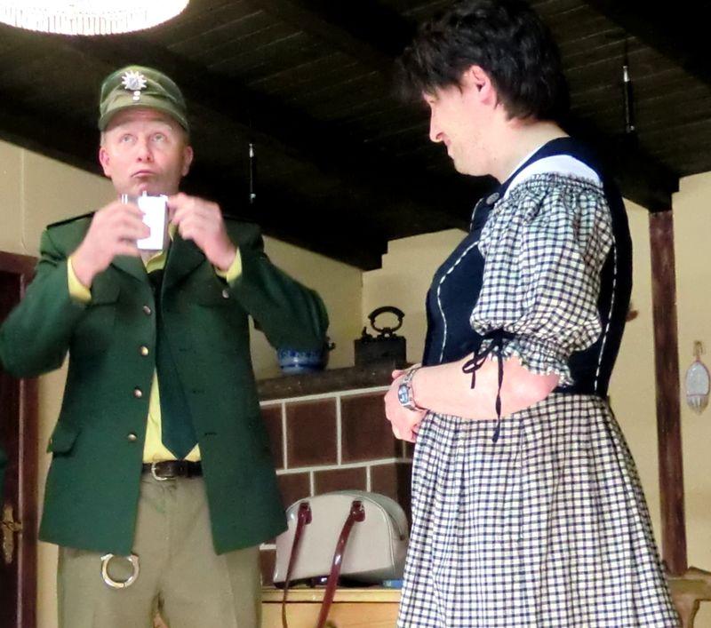 Szene aus einem Stück der Theaterbühne Habichtstein