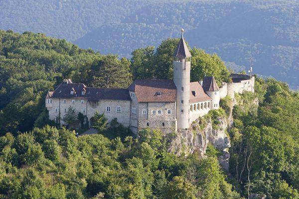 Burg Teck aus der Luft