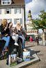 Pause am Brunnen auf dem Marktplatz in Kirchheim unter Teck