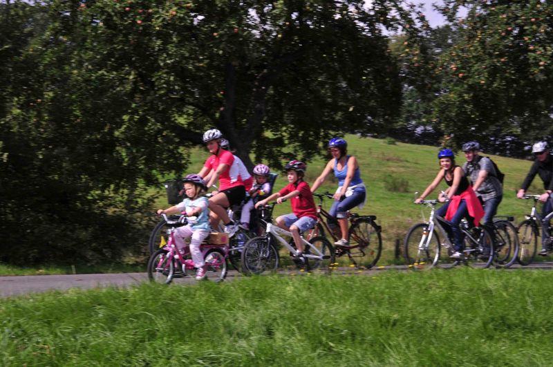 Familytour auf dem Bahnradweg Rotkäppchenland