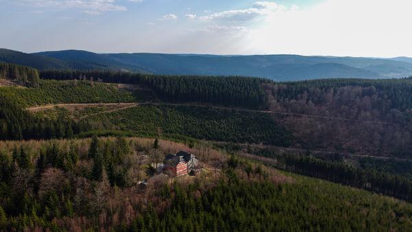 Luftaufnahme Alpenhaus