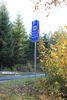 Das Verkehrszeichen als Hinweis auf den Wanderparkplatz