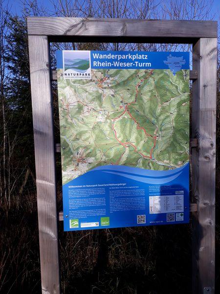Infotafel Naturpark Sauerland Rothaargebirge e.V.