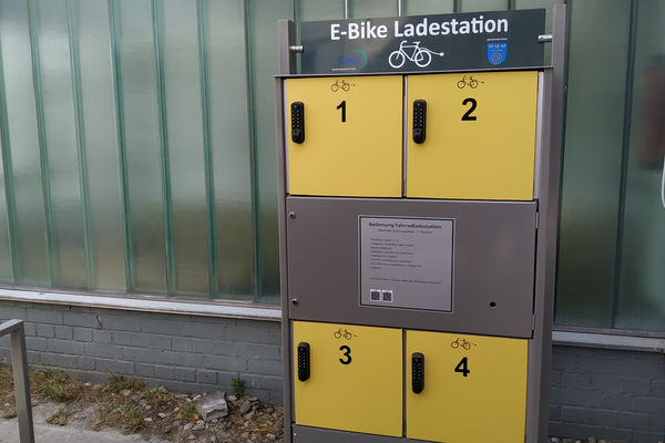 E-Bike Ladestation Hugo Strobel Halle