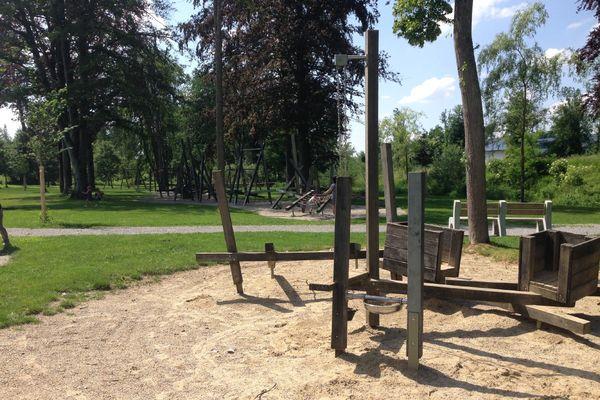 Spielplatz Spinnereipark Chiemsee Alpenland Tourismus