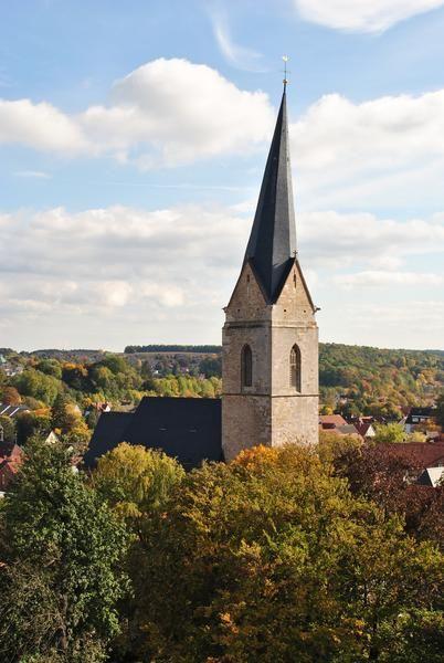 der schiefe Turm der Nikolaikirche