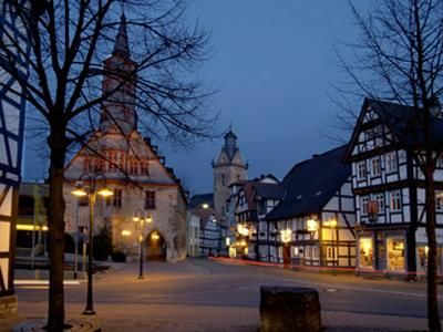 Blick in die Korbacher Altstadt