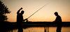 Angler im Sonnenuntergang, Foto: Florian Läufer