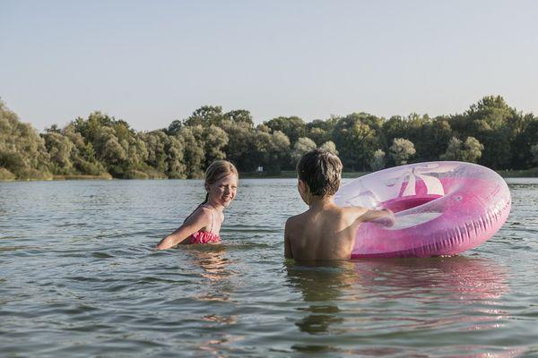 Schwimmen im Kranzberger Weiher